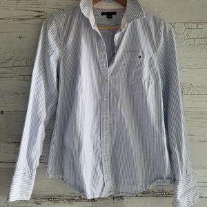 Tommy Hilfiger pinstripe button down shirt